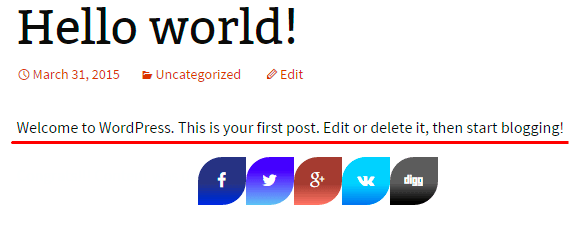 Lock Content with Social Share Buttons by Supsystic