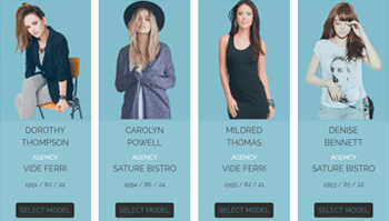 Model Agency Table Template