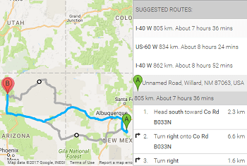 WordPress Google Maps with Alternate Routes and Route Steps