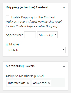 Membership Dripping Content Feature