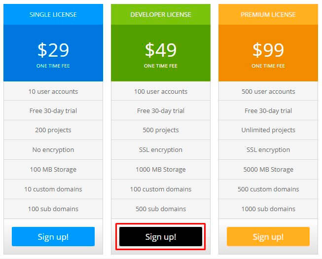 Pricing Table Change Button Color